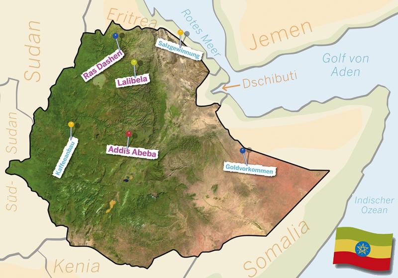 Aethiopien-Karte