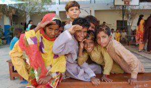 Eine pakistanische Kindergruppe. (Foto: Anja Oßwald)
