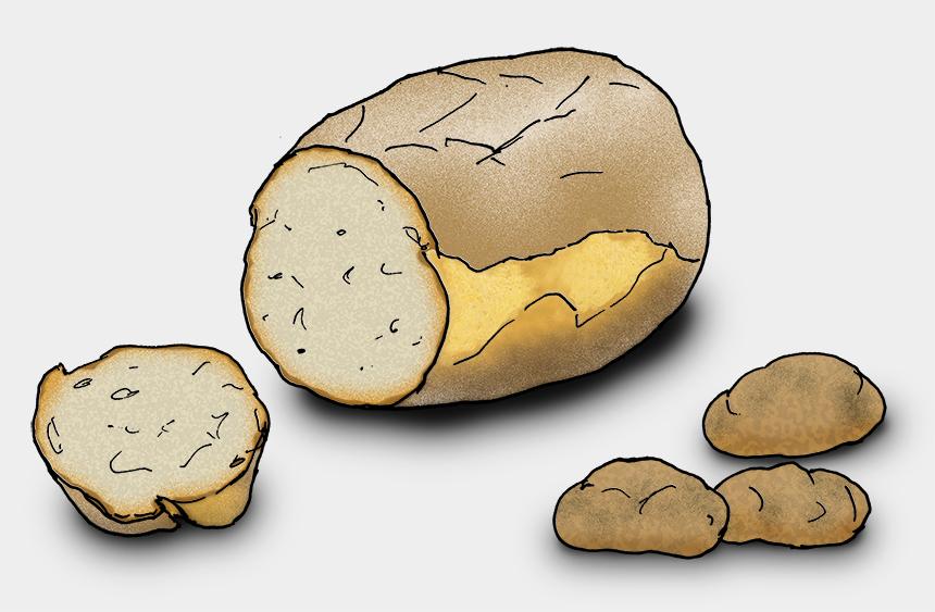 Ein dickes, rundes Kartoffelbrot. (Quelle: Angela Richter)