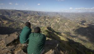 Blick über die Berglandschaft Äthiopiens. (Quelle: Frank Peterschröder)