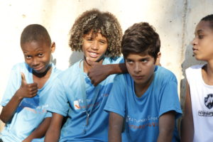 Jungen aus einem Kindernothilfe-Projekt in Rio. (Quelle: Jürgen Schübelin)