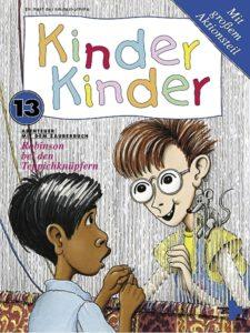 Titelbild Kinder, Kinder 13: Robinson bei Teppichknüpfern in Indien. (Quelle: Peter Laux)