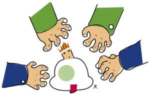 Vier Hände greifen nach einem Kind. (Quelle: Jan Robert Dünnweller)