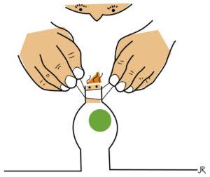 Zeichnung von zwei Händen, die einem Kind den Mund zuhalten. (Quelle: Jan Robert Dünnweller)