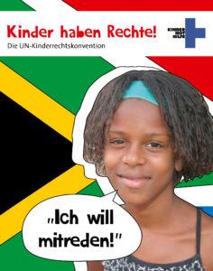 """Brasilianisches Mädchen mit der Sprechblase: """"Ich will mitreden!"""" (Quelle: Ralf Krämer)"""