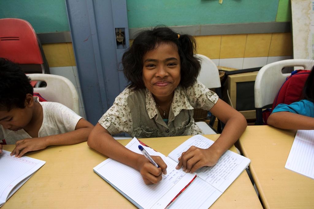 Ganz wichtig ist, dass Straßenkinder zur Schule gehen. (Quelle: Christian Nusch)