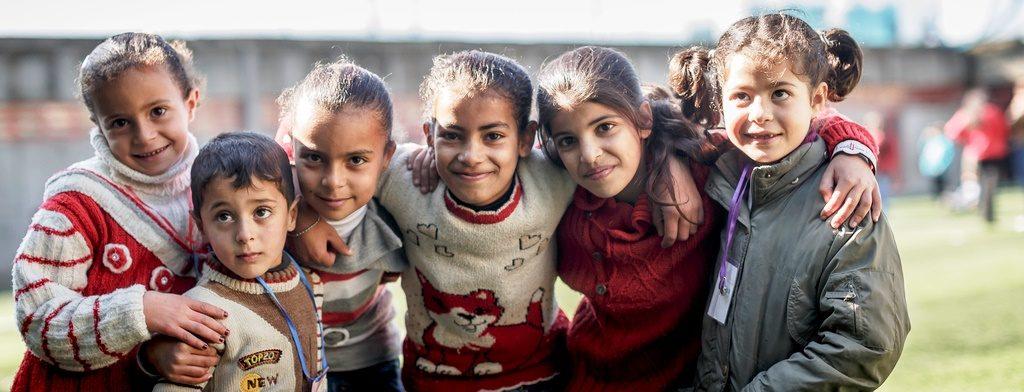 Syrische Flüchtlingskinder in einem Projekt im Libanon, das die Kindernothilfe unterstützt. (Quelle: Jakob Studnar)