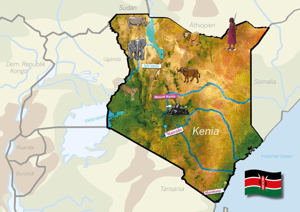 Kenia Karte (Quelle: Angela Richter)