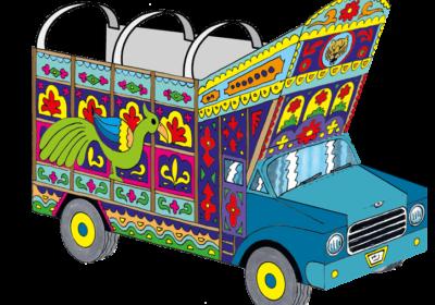 pakistanischer LKW (Bastelbogen)