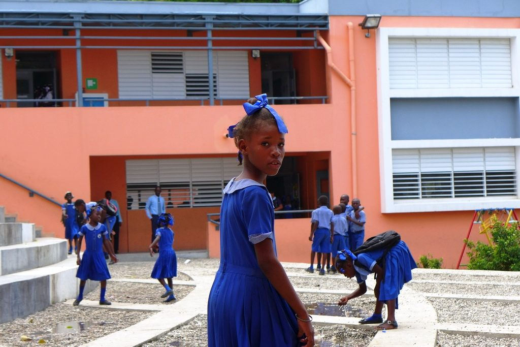 Die neue Kindernothilfe-Schule in Carrefour. (Quelle: Kathrin Meindl)