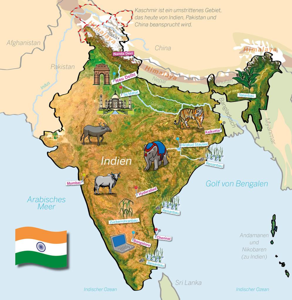 Indien Karte (Quelle: Angela Richter)