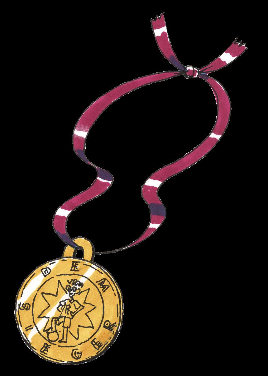 Die selbstgemachte Medaille. (Quelle: Peter Laux)