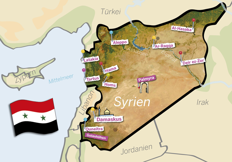 Landkarte Syrien (Quelle: Angela Richter)
