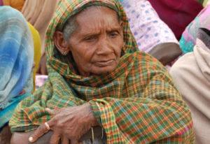 Eine alte Inderin. (Quelle: Kindernothilfe-Partner)