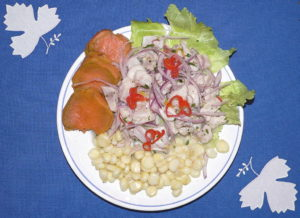 Ceviche. (Quelle: By No machine-readable author provided. Manuel González Olaechea assumed (based on copyright claims). [GFDL (http://www.gnu.org/copyleft/fdl.html) or CC BY 3.0 (http://creativecommons.org/licenses/by/3.0)], via Wikimedia Commons)