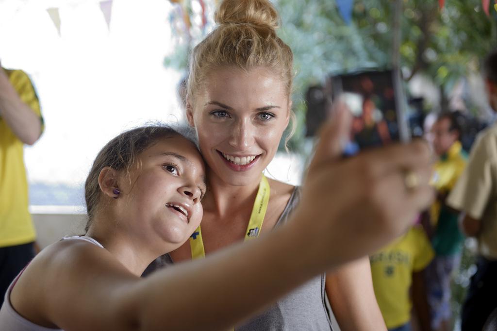 Selfie mit Lena Gercke. (Quelle: Florian Kopp)