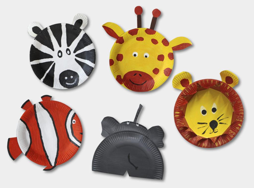 Tolle Tiere aus Pappteller (Quelle: Angela Richter)