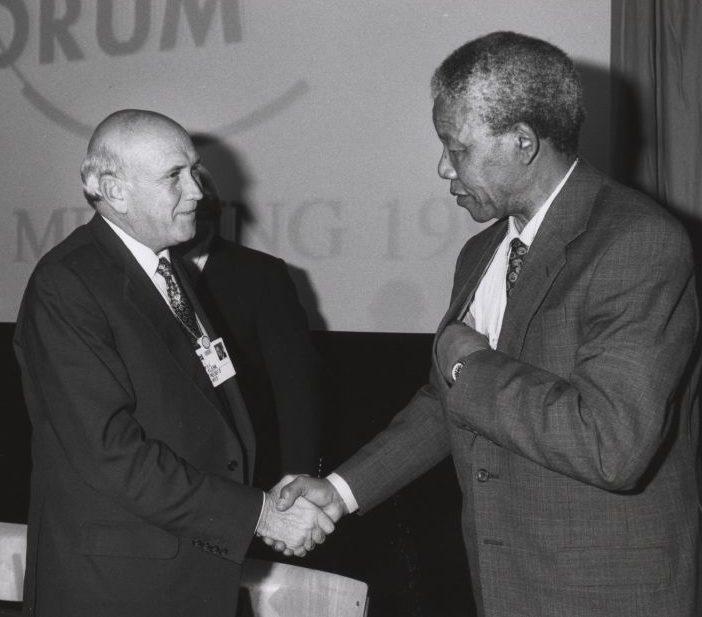 Frederik de Klerk und Nelson Mandela. (Quelle: Copyright World Economic Forum)