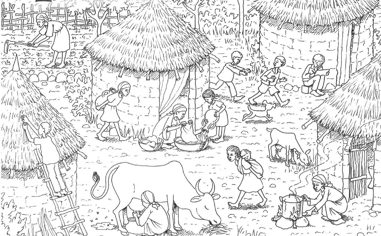 äthiopien Medhins Dorf Zum Ausmalen Robinson Im Netz