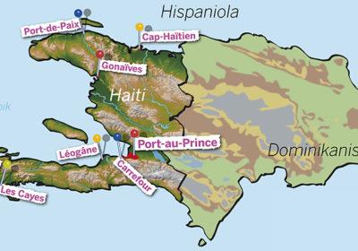Haiti Karte (Quelle: Angela Richter)
