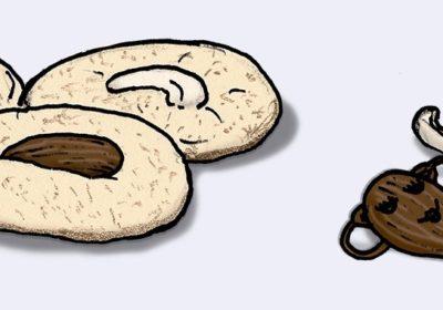 Zeichnung von Keksen und Mandeln. (Quelle: Angela Richter)