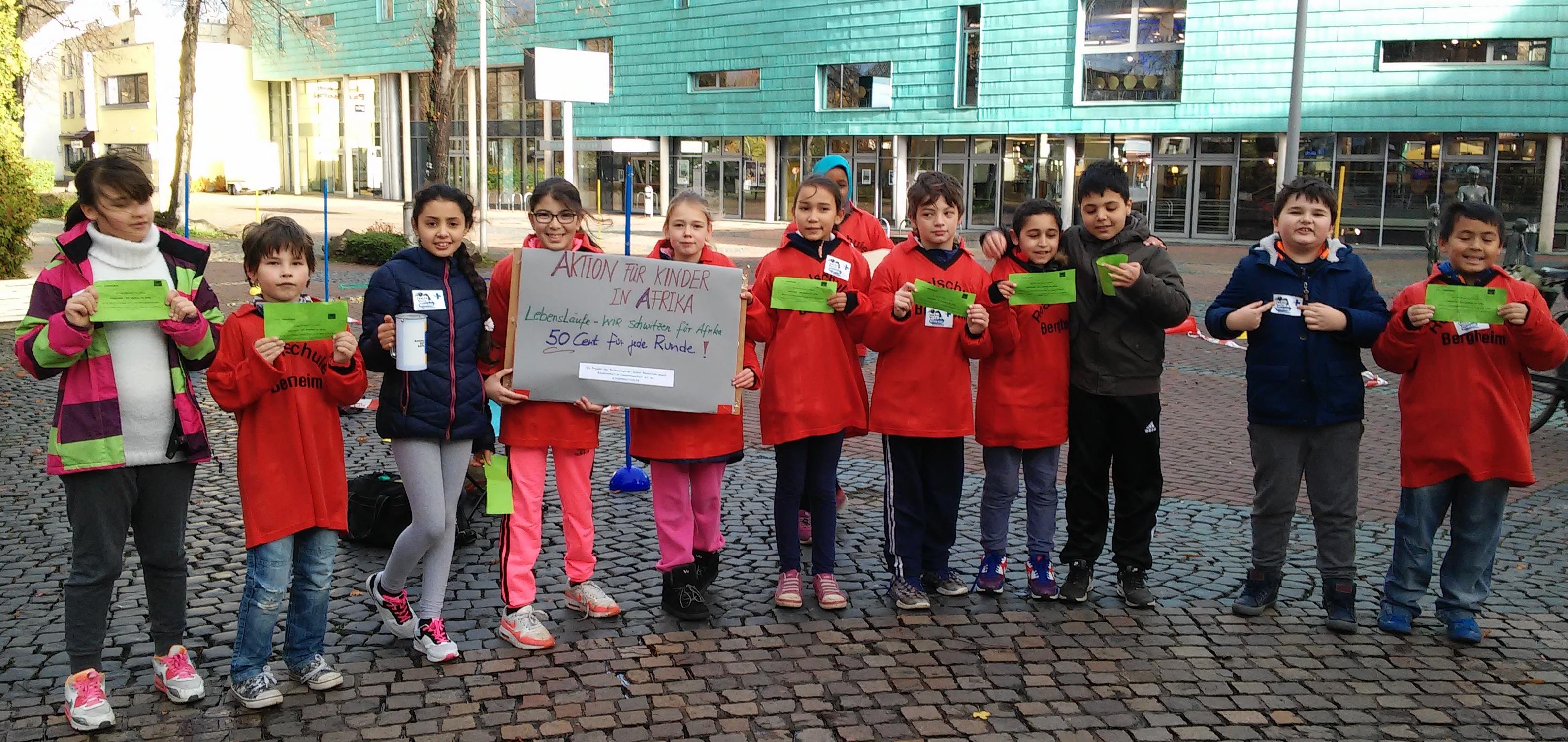 Action!Kidz der Klassen 5a, b, c der Geschwister-Scholl-Realschule Bergheim. (Quelle: privat)