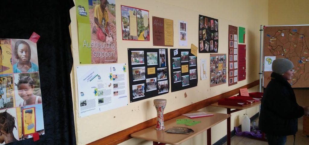 Ausstellung mit den Ergebnissen der Projektwoche. (Quelle: privat)