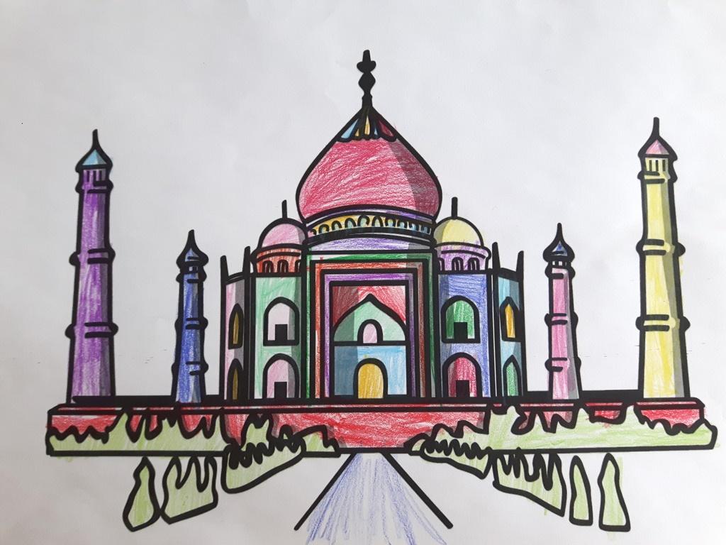 Indien Malvorlage Vom Taj Mahal Vorlage Robinson Im Netz