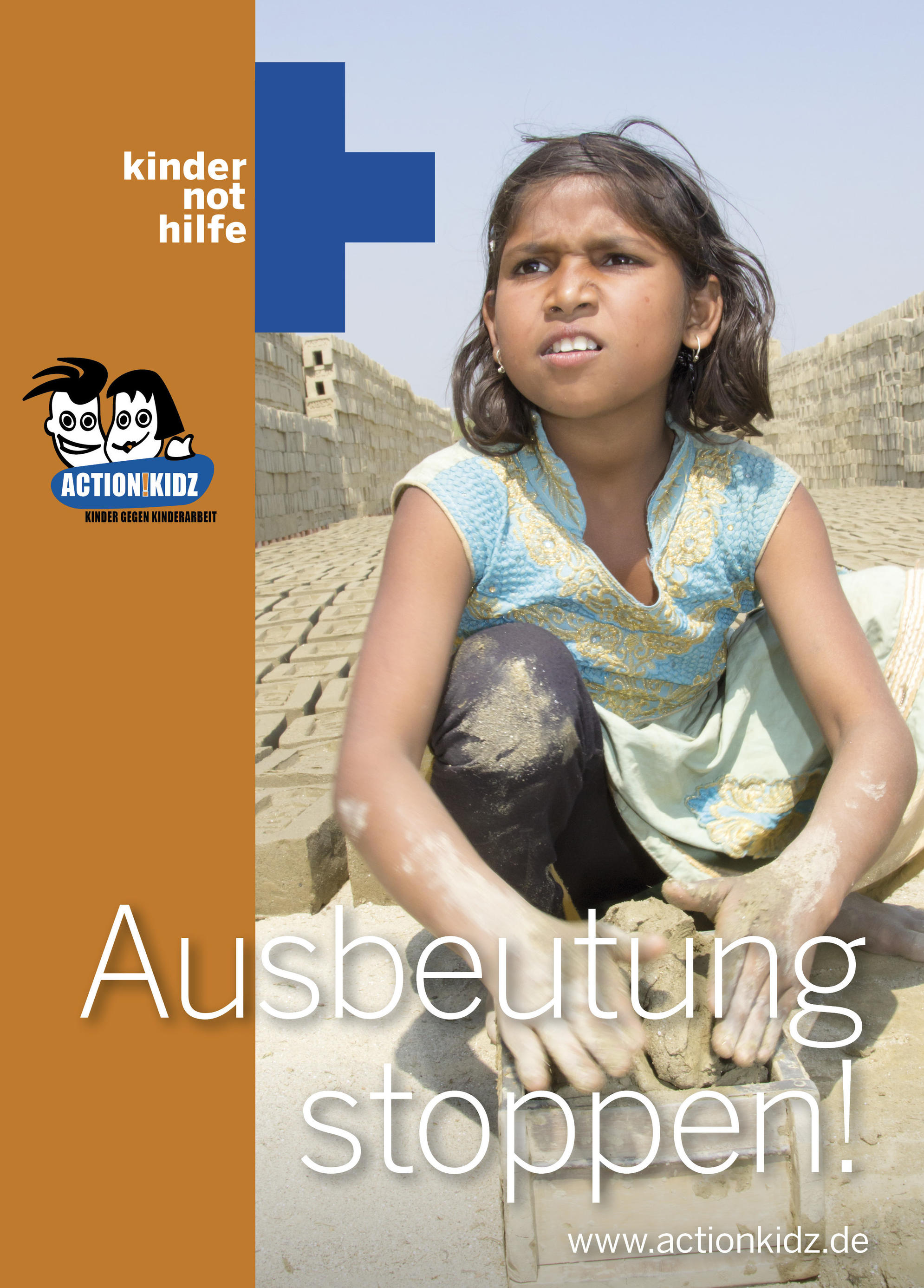 Indische Kinderarbeiterin in einer Ziegelei. (Quelle: Malte Pfau)
