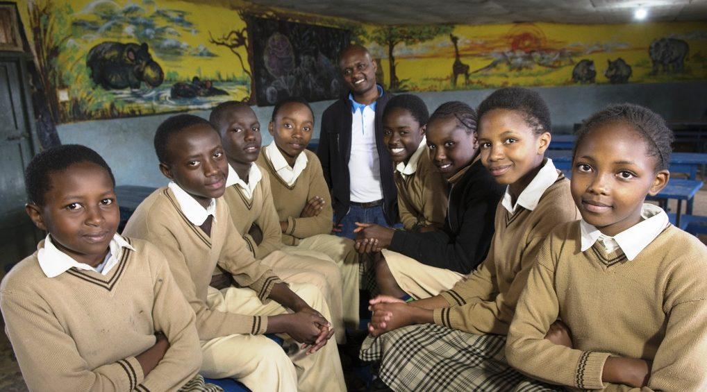 Bonnie mit den Mitgliedern des Schülerparlaments. (Quelle: Christian Nusch)