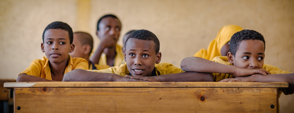 Schuler der Hidasie Grundschule in Dire Dawa. (Quelle: Jakob Studnar)