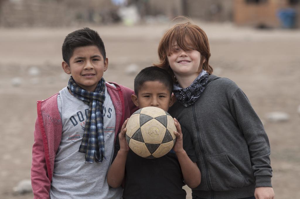 Das bin ich mit Nacho und Ronaldo. (Quelle: Christian Nusch)