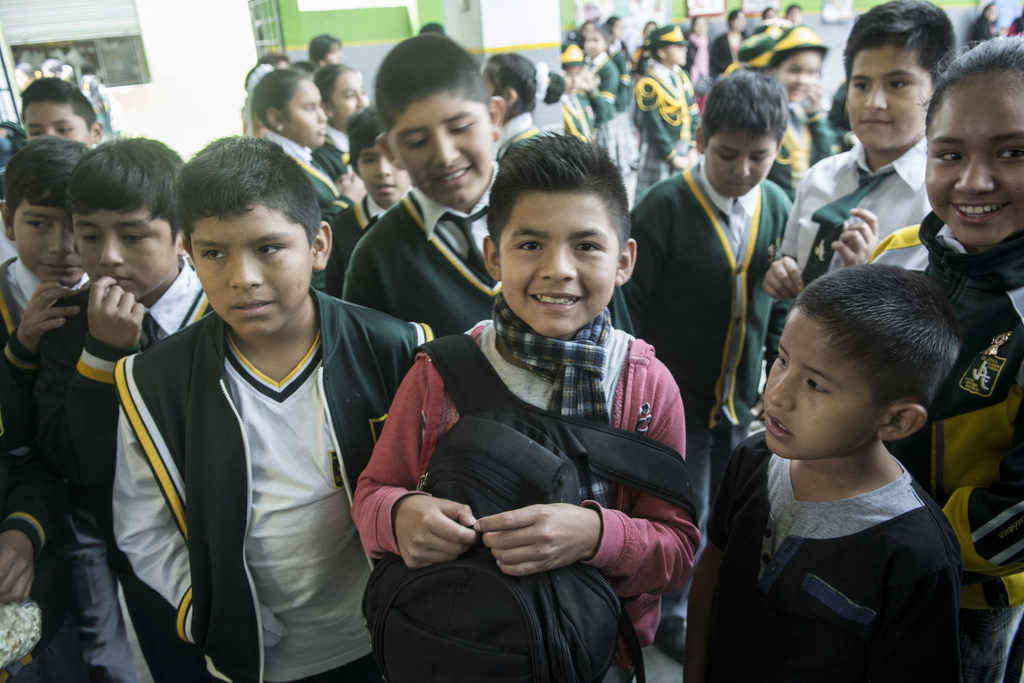 Nacho und Ronaldo in der Schule. (Quelle: Christian Nusch)