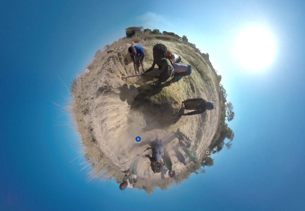Kinderarbeit in Sambia, gefilmt mit der 360 Grad Kamera. (Quelle: Christian Herrmanny)