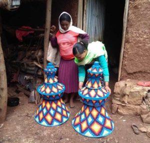 Körbe für Injera