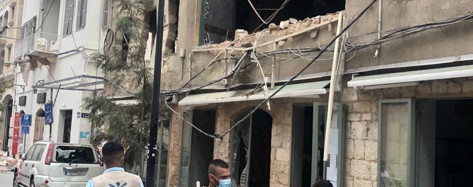 Zerstörte Häuser in Beirut